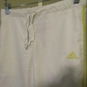 adidas Pants - Adidas White Yellow Running Pants Size S Jogging